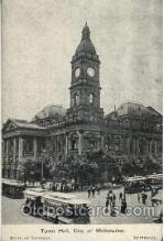 shi019009 - Town Hall, City of Melbourne, State of Victoria, Australia, Back of card says American Fleet, Ship Ships Postcard Postcards