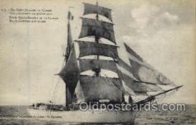 shi020022 - Brick-Goelette Sail Ship Ships Postcard Postcards