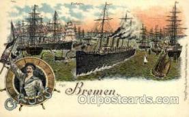 shi020030 - Bremen Sail Ship Ships Postcard Postcards
