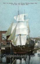 shi020049 - The Morgan New Bedford, Mass, USA, Whale Ship Sail Ship Ships Postcard Postcards