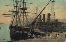 shi020059 - The Constitution, old ironsides, Boston,Mass,USA Sail Boat, Boats Postcard Postcards