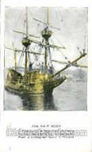 shi020084 - The haft moon, Hudson Fullton, New York, USA Sail Boat, Boats, Postcard Postcards
