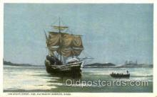 shi020092 - The Mayflower, Plymouth Harbor, Mass, USA Sail Boat, Boats, Postcard Postcards