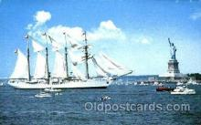 shi020093 - Operation Sail, Esmeralda, New York City Sail Boat, Boats, Postcard Postcards