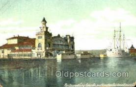 shi020099 - Restaurant ship, Cabrillo, Venice Sail Boat, Boats, Postcard Postcards