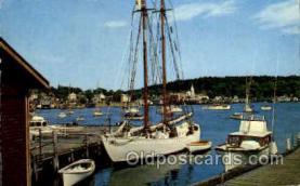 shi020105 - The Bowdoin, Famous Exploration Vessel Sail Boat, Boats, Postcard Postcards