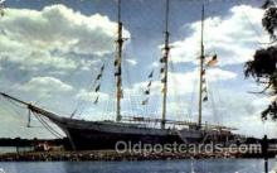 shi020106 - The Schooner, J.T. Wing Sail Boat, Boats, Postcard Postcards