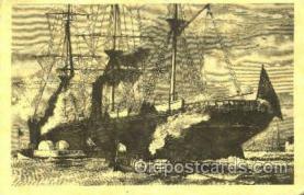 shi020114 - Reproduction - Ocean Stemer Leaving Portland Reproduction - Sail Boat, Boats, Postcard Postcards