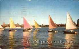 shi020117 - Sailing on the charles river, Boston, Massachusetts, USA Sail Boat, Boats, Postcard Postcards
