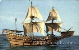 shi020131 - Mayflower II at Plymouth, Mass, USA Sail Boat, Boats, Postcard Postcards