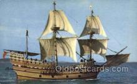shi020139 - Mayflower II Sail Boats, Sailing, Ship Postcard Postcards