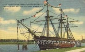 shi020148 - USS Constellation Sail Boats, Sailing, Ship Postcard Postcards