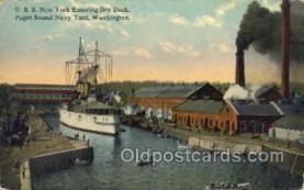 shi020150 - USS New York, Navy Yard Washington USA Sail Boats, Sailing, Ship Postcard Postcards