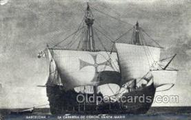 shi020157 - Santa Maria Sail Boats, Sailing, Ship Postcard Postcards