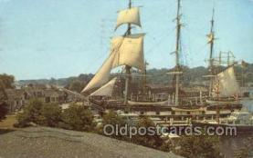 shi020162 - Charles W Morgan Sail Boats, Sailing, Ship Postcard Postcards