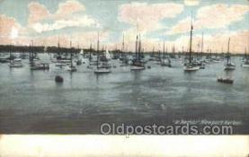 shi020164 - At Anchor NewPort Harbor Sail Boats, Sailing, Ship Postcard Postcards