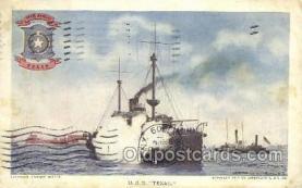 shi020170 - USS Texas Sail Boats, Sailing, Ship Postcard Postcards