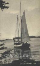 shi020212 - Anchored Off Shore Sail Boats, Sailing, Ship Postcard Postcards