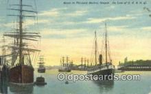 shi020261 - Scene In Portland Harbor, Portland, Oregon, OR USA Sail Boat Postcard Post Card