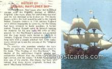 shi020262 - The Mayflower Sail Boat Postcard Post Card