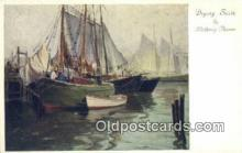 shi020269 - Drying Sails By Anthony Thieme Sail Boat Postcard Post Card