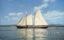 shi020273 - Windjammer Off The Coast OF Maine, ME USA Sail Boat Postcard Post Card