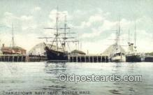 shi020280 - Charlestown Navy Yard, Boston, Massachusetts, MA USA Sail Boat Postcard Post Card
