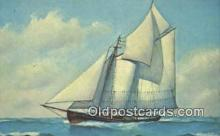 shi020283 - Old Time Fishing Schooner, Mystic, Connecticut, CT USA Sail Boat Postcard Post Card