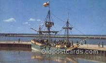 shi020284 - The God Speed, Jamestown, Virginia, VA USA Sail Boat Postcard Post Card