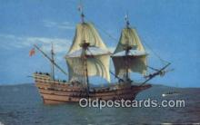 shi020287 - The Mayflower II, Plymouth, Massachusetts, MA USA Sail Boat Postcard Post Card