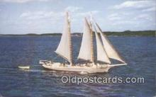 shi020290 - The Maine Passenger Schooner Alice S Wentworth, Rockland, Maine, ME USA Sail Boat Postcard Post Card