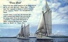 shi020293 - Down East, Sail Boat Postcard Post Card