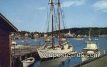 shi020295 - The Bowdoin, Boothbay Harbor, Maine, ME USA Sail Boat Postcard Post Card