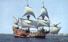 shi020299 - The Mayflower II, Plymouth, Massachusetts, MA USA Sail Boat Postcard Post Card