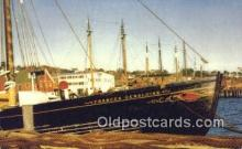 shi020308 - Waterfront Scene, Lunenburg Harbor, Halifax, Nova Scotia, Canada Sail Boat Postcard Post Card