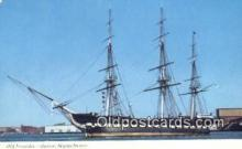 shi020315 - Old Ironsides, Boston, Massachusetts, MA USA Sail Boat Postcard Post Card