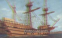 shi020317 - The Mayflower II, Plymouth, Massachusetts, MA USA Sail Boat Postcard Post Card