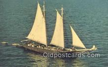 shi020318 - Windjammer, Maine, ME USA Sail Boat Postcard Post Card