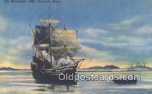 shi020331 - The Mayflower 1620, Plymouth, Massachusetts, MA USA Sail Boat Postcard Post Card