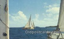 shi020332 - Sailing In Virgin Islands Sail Boat Postcard Post Card