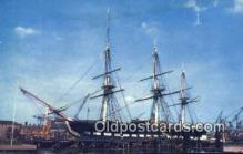shi020336 - USS Constitution, Charlestown, Massachusetts, MA USA Sail Boat Postcard Post Card