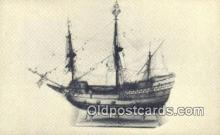 shi020337 - Model Of The Mayflower, Southampton, England Sail Boat Postcard Post Card