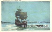 shi020339 - The Mayflower 1620, Plymouth, Massachusetts, MA USA Sail Boat Postcard Post Card