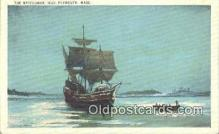 shi020340 - The Mayflower 1620, Plymouth, Massachusetts, MA USA Sail Boat Postcard Post Card