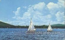 shi020348 - Regatta Time On Grand Lakes, Rocky Mountain National Park, USA Sail Boat Postcard Post Card