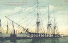 shi020354 - The Constitution Old Ironside, Boston, Massachusetts, MA USA Sail Boat Postcard Post Card