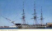 shi020358 - Old Ironsides, Boston, Massachusetts, MA USA Sail Boat Postcard Post Card
