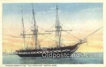 shi020359 - Frigate Constitution, Boston, Massachusetts, MA USA Sail Boat Postcard Post Card