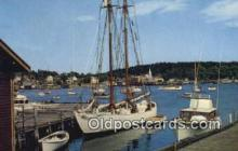 shi020364 - The Bowdoin, Boothbay Harbor, Maine, ME USA Sail Boat Postcard Post Card