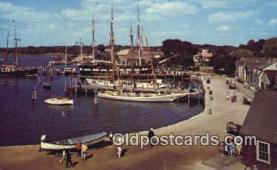 shi020367 - Mystic Seaport, Mystic Connecticut, CT USA Sail Boat Postcard Post Card